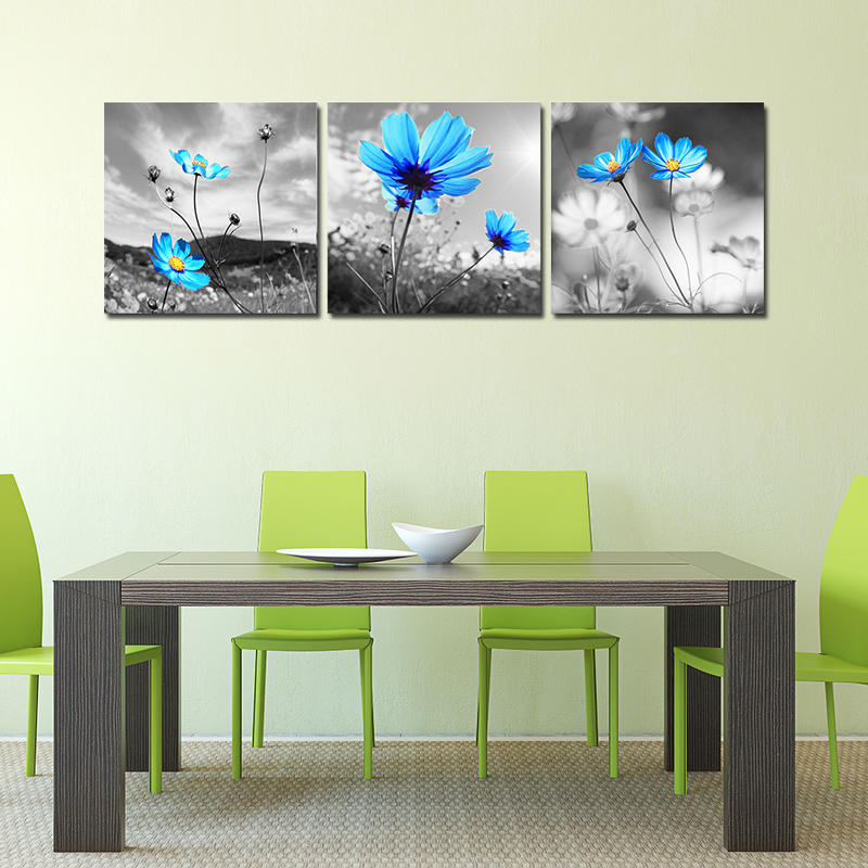 Blue Flower Still Life Paintings Wall Decor