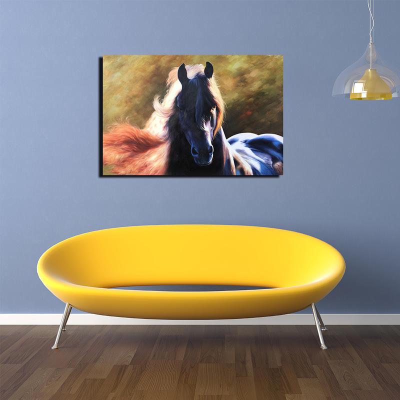 Modern Horse Canvas Painting Animal Wall Art