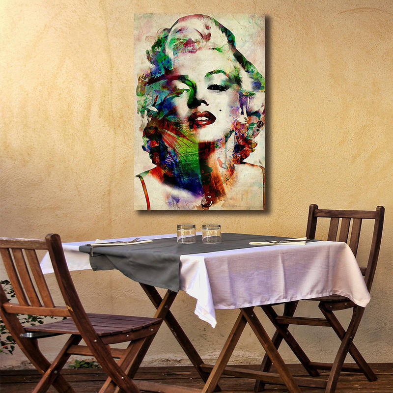 Colorful Marilyn Monroe Framed Wall Art Pianting on Canvas