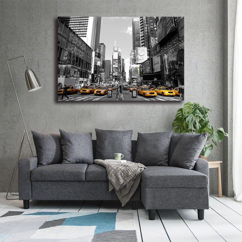 New York City Canvas Painting Living Room Wall Art Poster Time Square