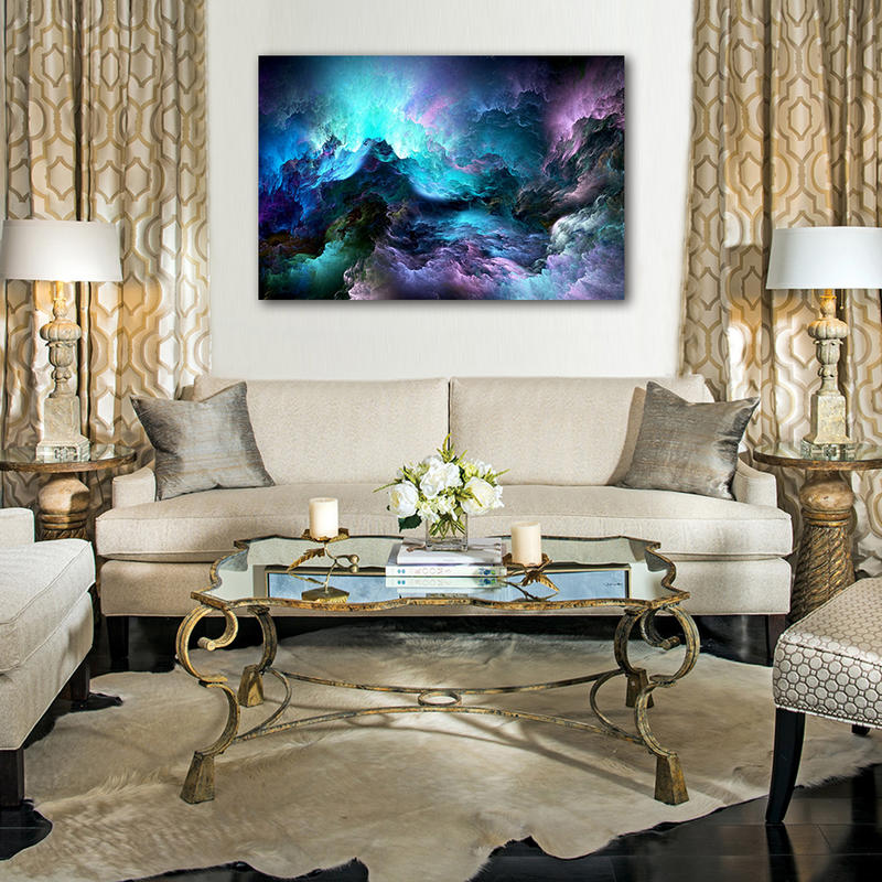 Colorful Abstract Canvas Painting for Bedroom Living Room Decor