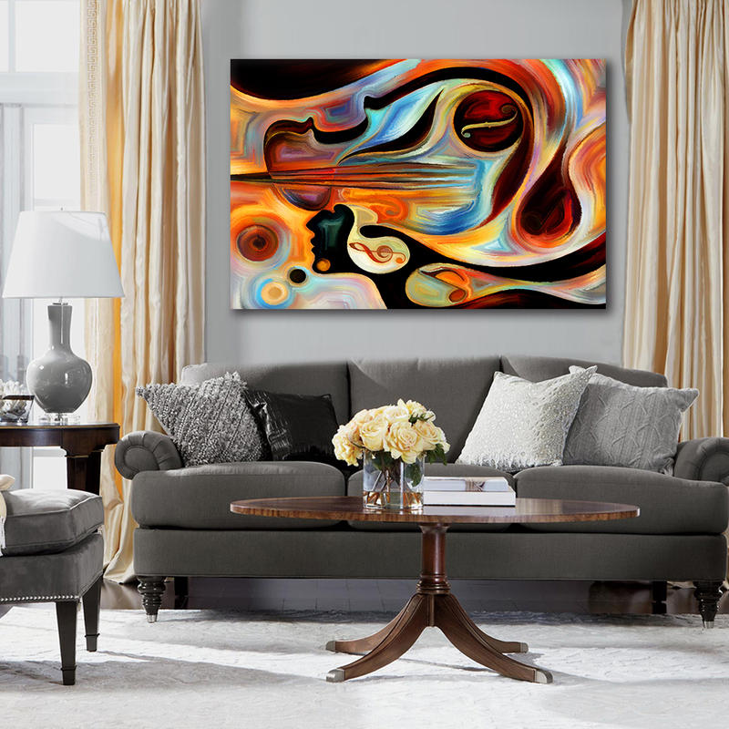Abstract Sexy Lady Canvas Wall Art for Living Room Decor