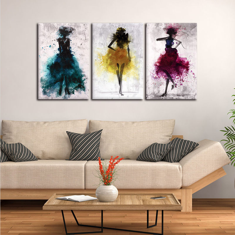 Abstract Watercolor Fashion Women Canvas Wall Art