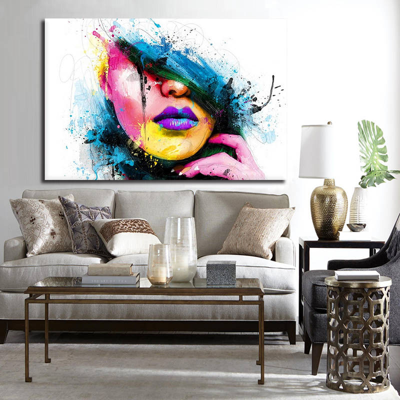Colorful Abstract Figures Canvas Prints Painting Artwork