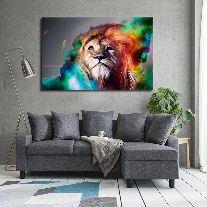 Abstract Lion Head Canvas Wall Art for Living Room Deocr
