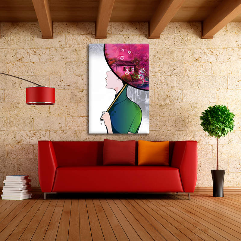 Abstract Women Painting  Canvas Prints