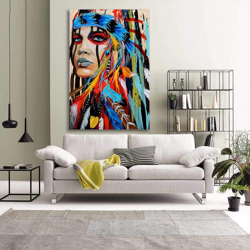 Native American Decor Colorful Wall Art