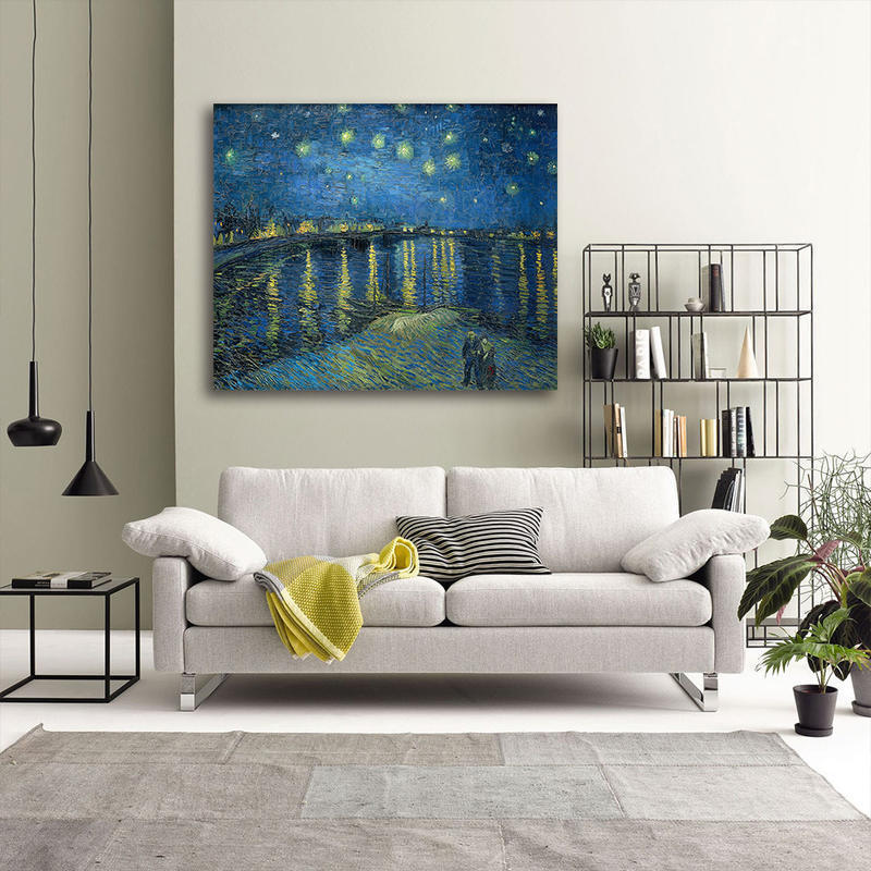 Van Goah Starry Night Over the Rhone Painting