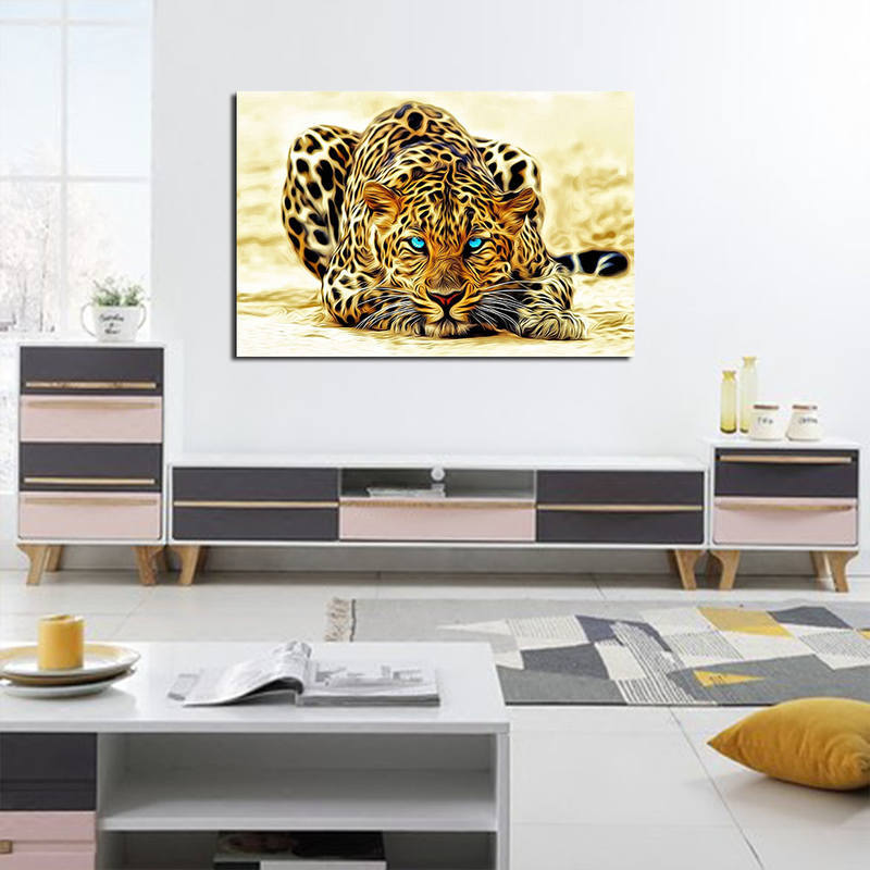 Animal Canvas Prints Lepord Painting Wall Art