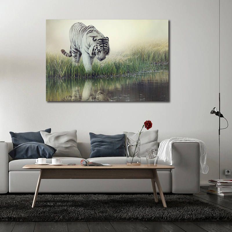 Wild Life Canvas Prints Tiger Paintings for Wall Art