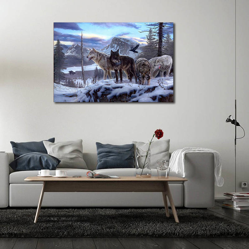 Wolf Canvas Painting for Home Decor
