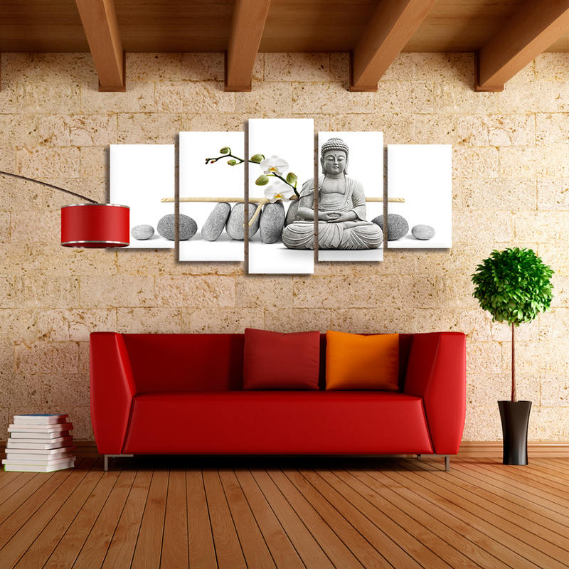 Buddha Canvas Wall Art for Living Room Decor