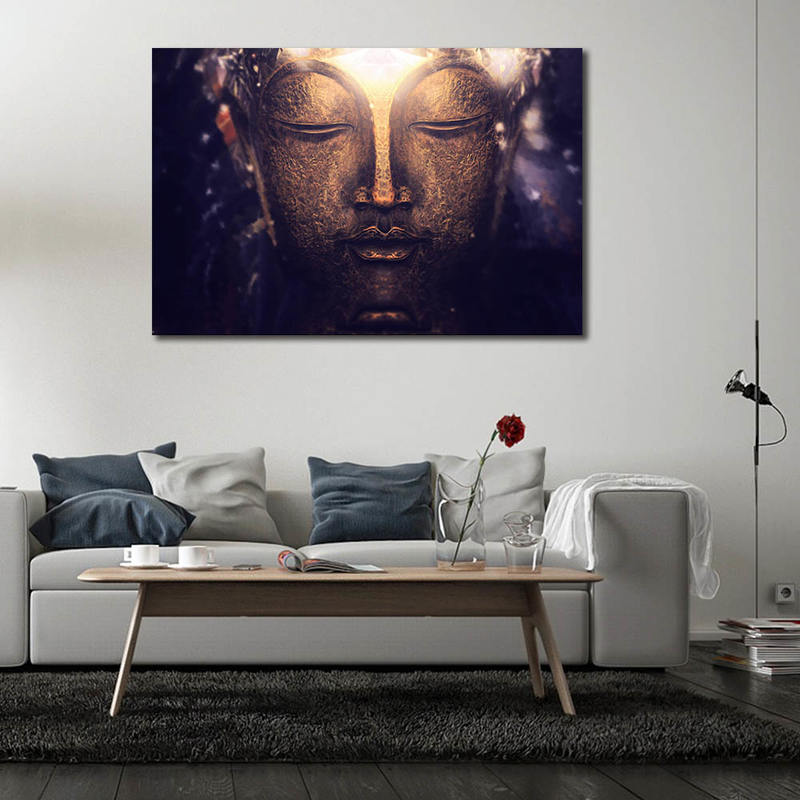 Buddha Canvas Art Print Painting Poster