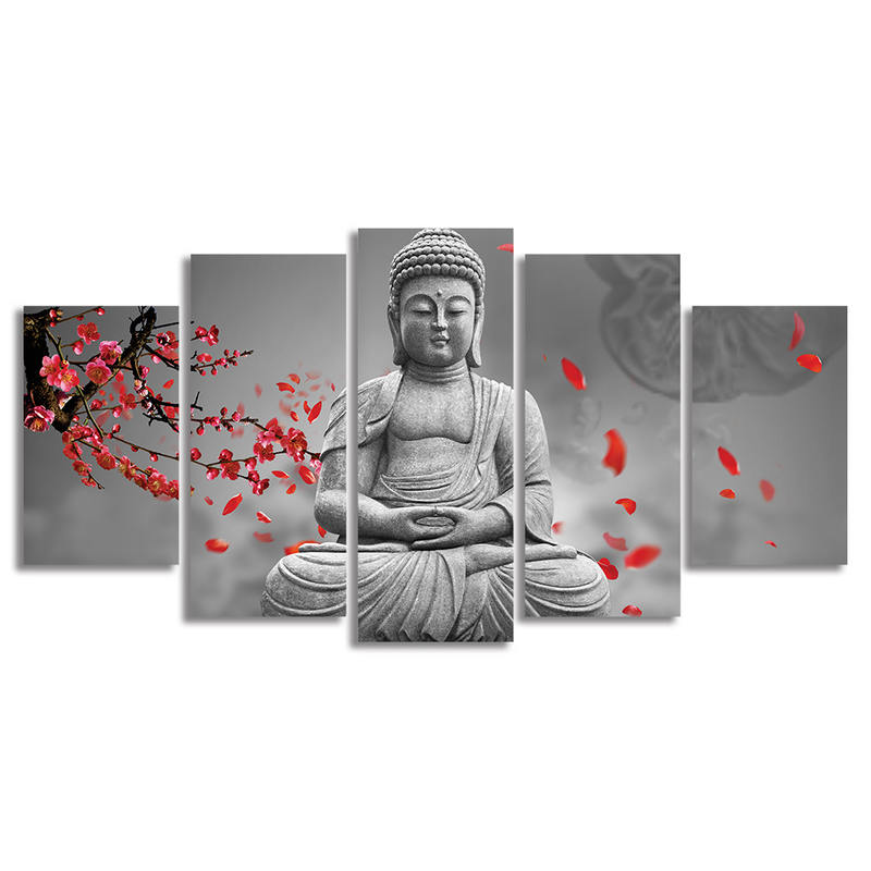 Buddhism Buddha Painting Picture Cuadros Decor Buda Canvas Art