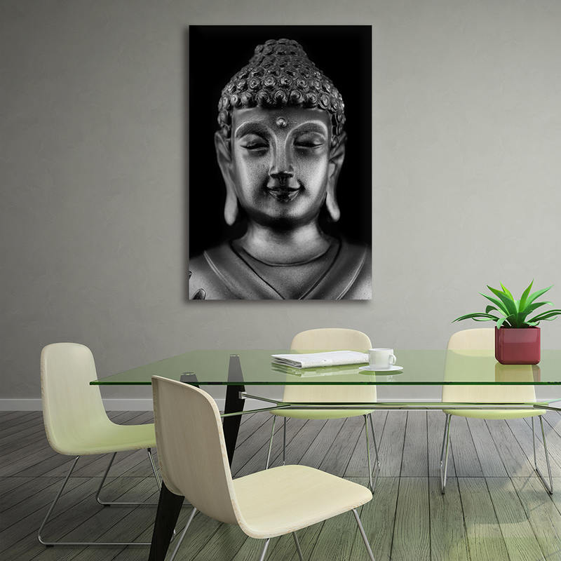 Abstract Printed Hotoke Buddhism Buddha Painting Canvas Art